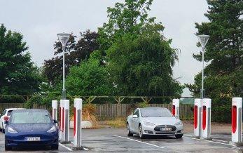 Ny Tesla V3 Supercharger i Kirke Såby
