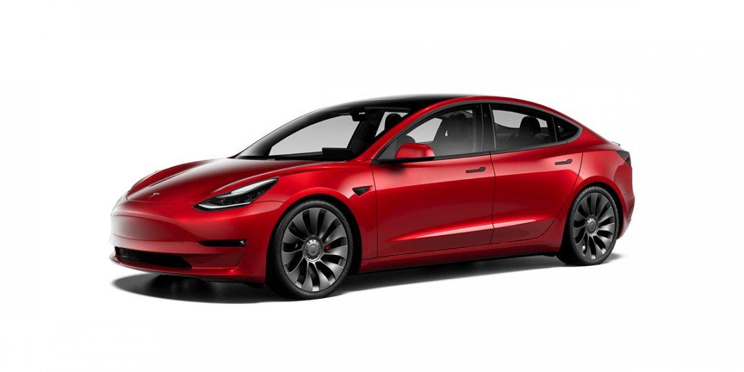 Opdatering af Tesla Model 3
